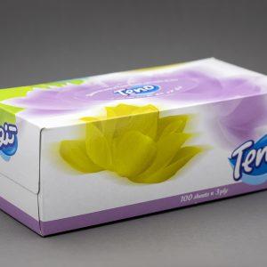 دستمال کاغذی جعبه ای تنو